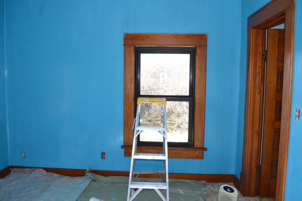 turquoise blue paint * a delightful glow