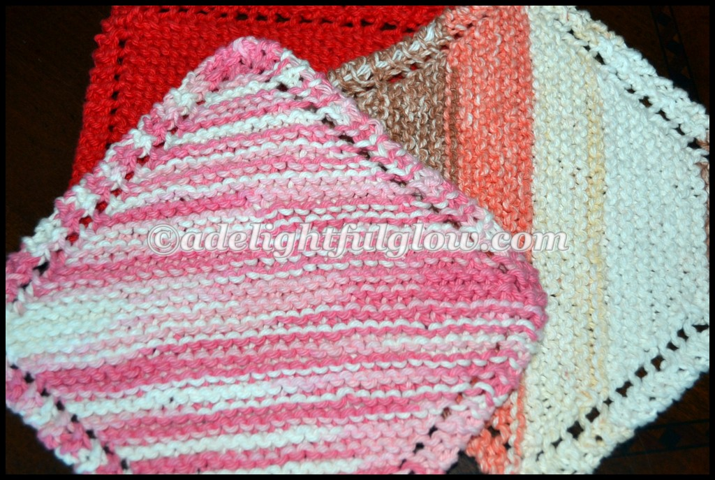 Hand-Knitted Farmhouse Dishcloth Giveaway-Just Because ...