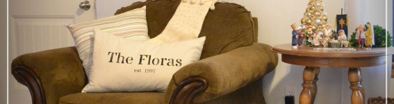 Personalized Pillow ~ When our Household was Established!
