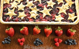 In the Farmhouse Kitchen With Stars and Berry Pie
