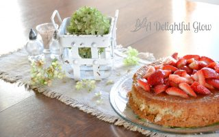 Gluten Free Almond Cake With Strawberries