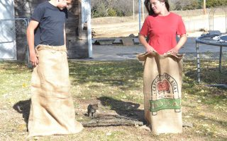 Wherein We Have A Burlap Bag Race